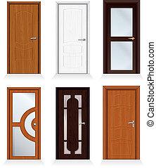 moderno, puertas