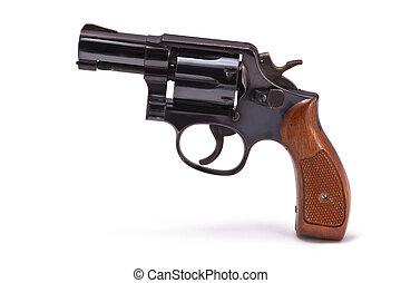 moderno, revólver, snubnose