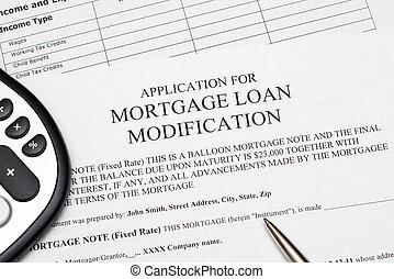 modificación, préstamo, hipoteca