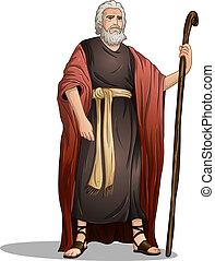 Moisés de la Biblia para la Pascua