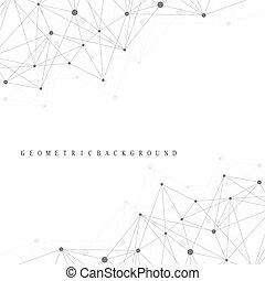 Molécula de estructura de ADN atómico y fondo de comunicación. Concepto de neuronas. Líneas conectadas con puntos. Sistema nervioso de ilusión. Fondo de ilustración científica médica.