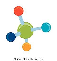 molécula, estructura, icono