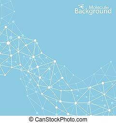 molécula, su, vector, plano de fondo, comunicación, geométrico, ilustración, design.