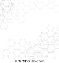Moléculas abstractas de fondo médico con copia espacio (vector)
