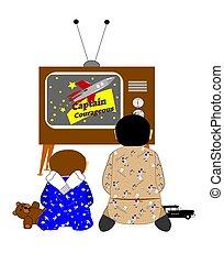 Molestos viendo la tele