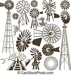 molino de viento, colección