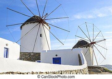 molinos de Mykonos, cólera, Grecia