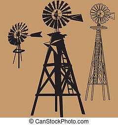molinos de viento, tres