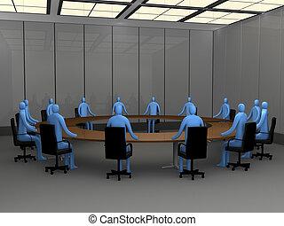Momentos de oficina, sala de reuniones