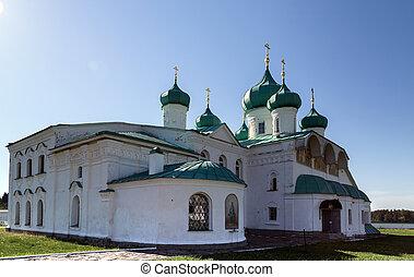 monasterio, s., transfiguration, iglesias, svir, alexander