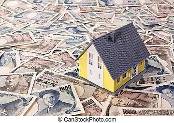 moneda, credito, extranjero, guarida, yen