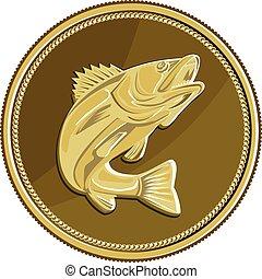 Moneda de oro Barramundi retro