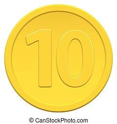 moneda, diez