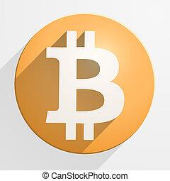 moneda, financiero, bitcoin, icono
