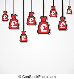 moneda, libra, plano de fondo, bolsa