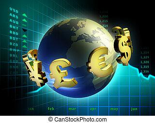 moneda, mundo