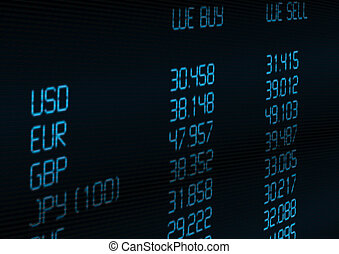 moneda, tasa, intercambio