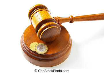 Monedas de Derecho y Euro, en blanco