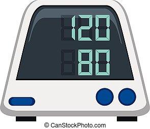 Monitor de presión sanguínea de fondo blanco