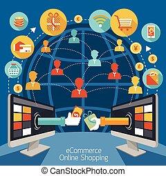 Monitor informático de compras en línea
