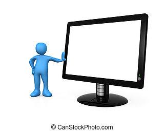 Monitor vacío