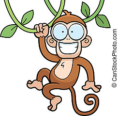 Mono colgando