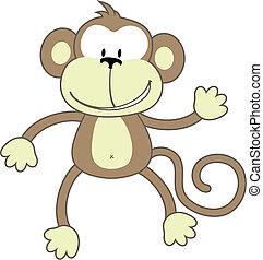 Mono de saludo
