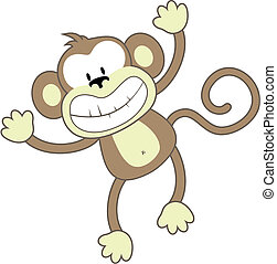 Mono sonriente