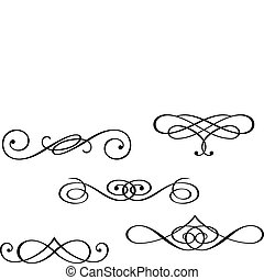 Monogramas y elementos remolinos