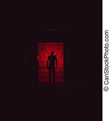 Monstruo en casa embrujada, tercera versión
