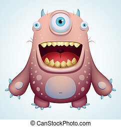 monstruo, feliz