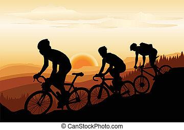 montaña biking