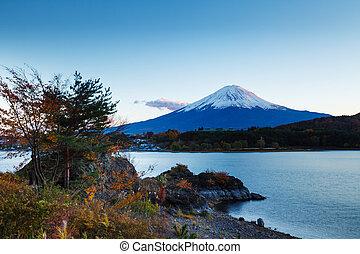 montaña, fuji, japón