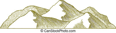 montaña, woodcut