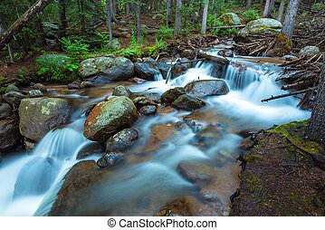 montañas, río, rocoso