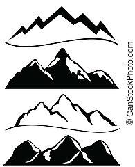 montañas, vario
