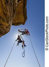 montañismo, luchas, summit., equipo