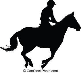 Montador de caballos ecuestre