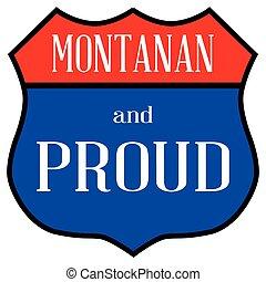 montanan, orgulloso