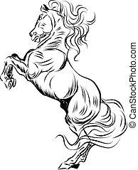 Montando caballo