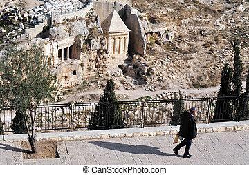 monte, jerusalén, israel, aceitunas
