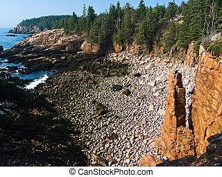 Monument Cove Seatack, acadia Parque Nacional, Maine