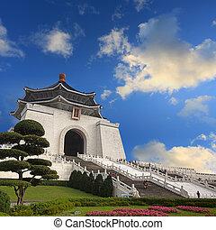 monumento conmemorativo, kai, shek, chiang, vestíbulo