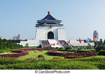 monumento conmemorativo, kai, shek, -, taiwán, chang, taipei, vestíbulo
