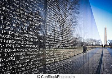 monumento conmemorativo, vietnam, washington dc, guerra