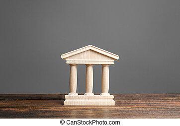 monumento, viejo, educación, banca, estatuilla, ciudad, tribunal, pilares, arquitectónico, concepto, o, edificio, town., parte, banco, universidad, library., antigüedad, government., administración, style.