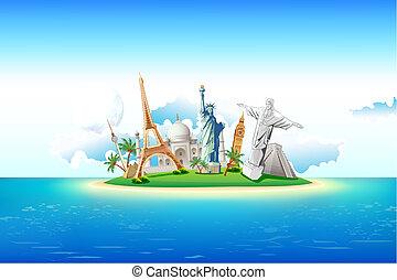 Monumentos en la isla