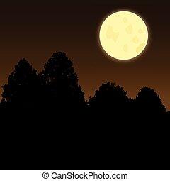 moonscene, crepúsculo