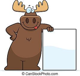 Moose inclinándose