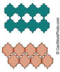 morisco, patrón, azulejos